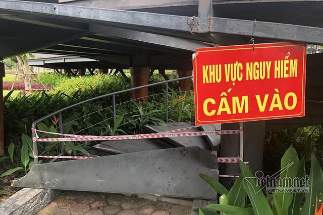 Công viên hiện đại ở Quảng Ninh, cầu đi bộ thành nơi ươm nấm - Ảnh 5.