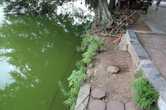 Bờ kè Hồ Gươm xuống cấp nghiêm trọng khiến người dân lo lắng - Ảnh 12.