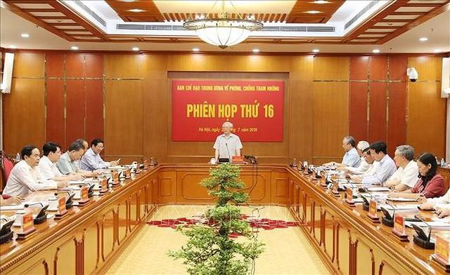 Tổng Bí thư, Chủ tịch nước chủ trì họp Ban Chỉ đạo phòng, chống tham nhũng - Ảnh 1.