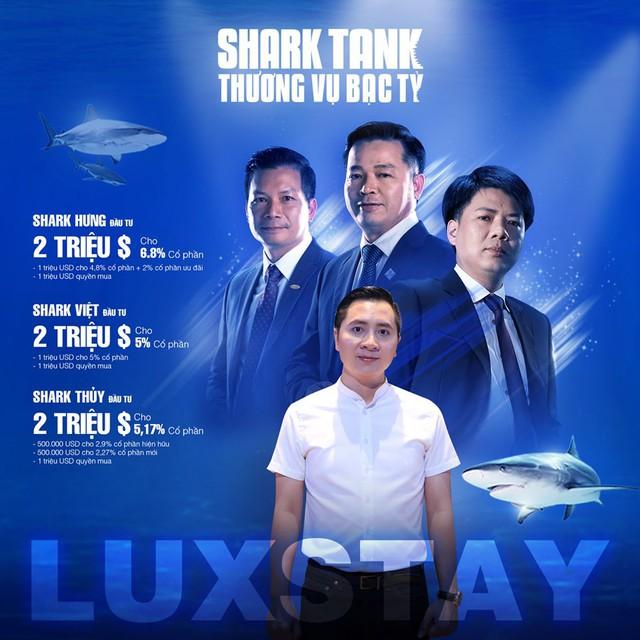 Luxstay được đánh giá là thương vụ gọi vốn thành công nhất trong chương trình Shark Tank mùa 3