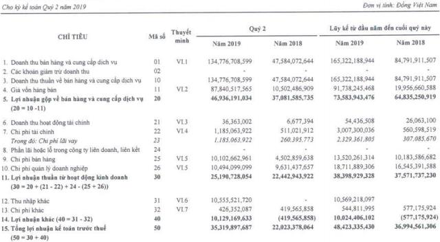 6 tháng đầu năm 2019, Netland (NRC) thực hiện được 34% chỉ tiêu LNST với 38 tỷ đồng - Ảnh 1.