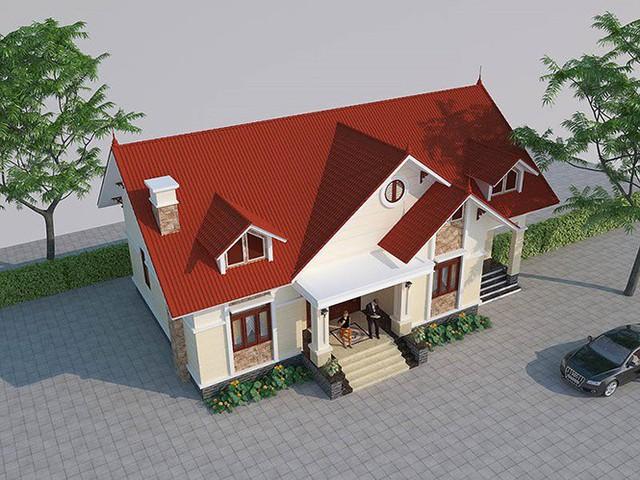 Mẫu nhà cấp 4 gác lửng mái Thái đẹp miễn chê chỉ 200- 300 triệu đồng - Ảnh 3.