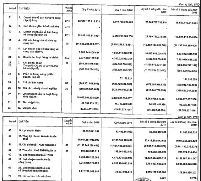 VinHomes đạt 10.000 tỷ đồng LNTT trong quý 2, gấp đôi cùng kỳ - Ảnh 1.