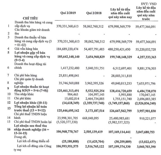 CTX Holdings (CTX): 6 tháng lãi 107 tỷ đồng cao gấp 36 lần cùng kỳ - Ảnh 1.