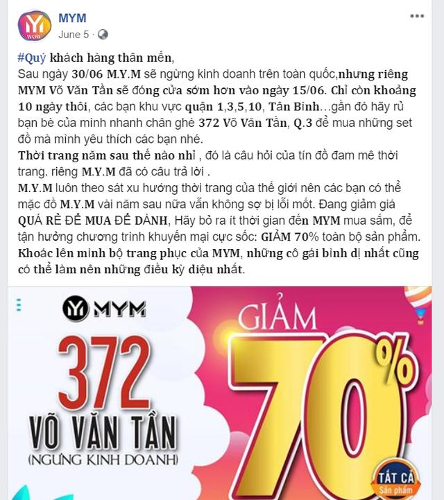 Không cạnh tranh được với Zara, HM, bà chủ Maximark bỏ 300 tỷ mua lại EMIGO của Vingroup nhưng đã đóng cửa hệ thống MYM sau hơn 3 năm ra mắt - Ảnh 2.