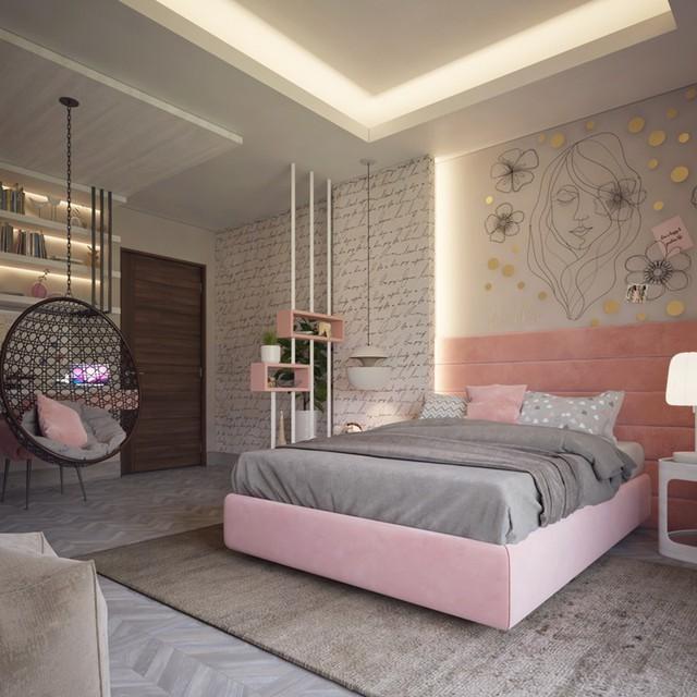 Phòng ngủ đẹp như tranh dành cho các cô gái - Ảnh 2.