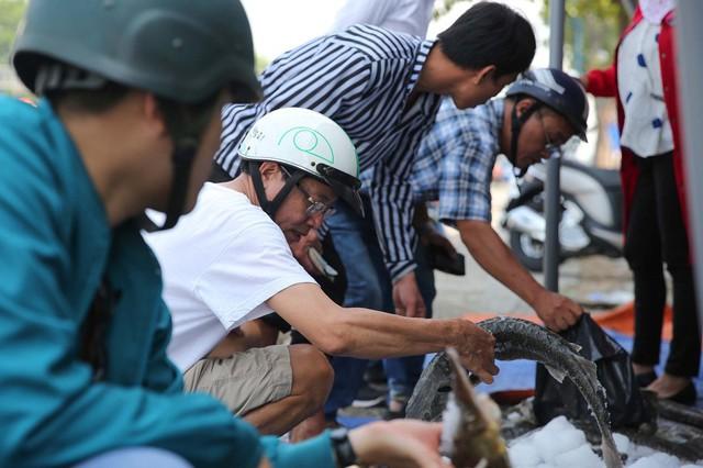 Người dân TP HCM chen nhau mua cá tầm bị ngộp nước - ảnh 4