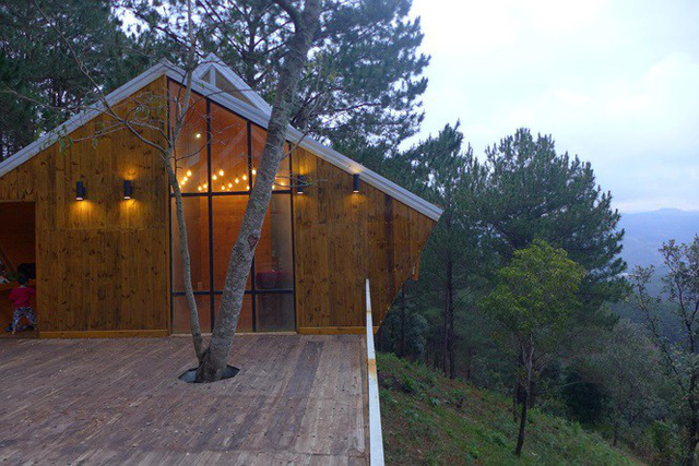 Nhà gỗ ghé lưng đồi, lãng mạn trong thung lũng trong sương Đà Lạt - Ảnh 4.