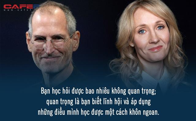 GPA 2,65 nhưng Steve Jobs vẫn làm CEO, đạt toàn điểm C nhưng J.K. Rowling là nhà văn tỷ phú: Đừng chỉ nhìn vào bằng cấp!  - Ảnh 1.