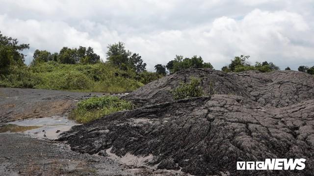 Hàng chục tấn bùn thải Nhà máy Alumin Nhân Cơ đổ trái phép ở Đắk Nông - Ảnh 1.