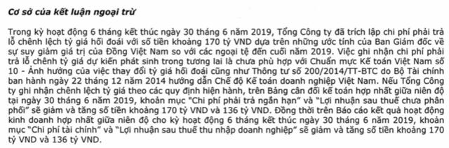 Vietnam Airlines nói gì về việc kiểm toán ngoại trừ việc trích lập trước lỗ chênh lệch tỷ giá làm hụt 136 tỷ đồng lãi ròng? - Ảnh 1.