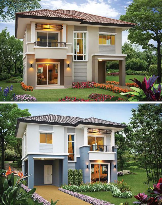 Những mẫu nhà 2 tầng mái thái kiểu mới đẹp ngẩn ngơ - Ảnh 1.