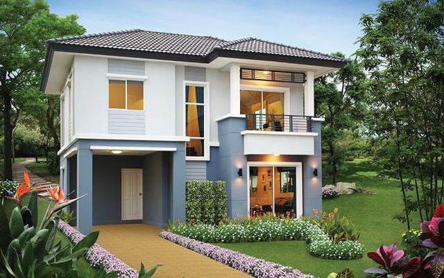 Những mẫu nhà 2 tầng mái thái kiểu mới đẹp ngẩn ngơ - Ảnh 2.