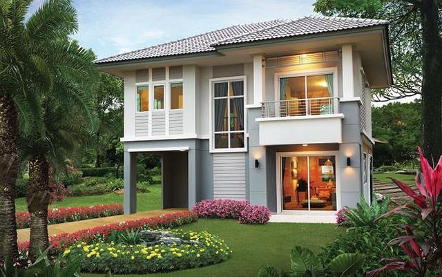 Những mẫu nhà 2 tầng mái thái kiểu mới đẹp ngẩn ngơ - Ảnh 3.