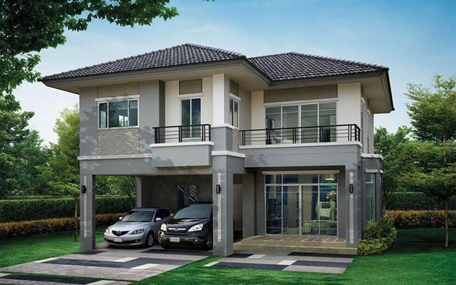 Những mẫu nhà 2 tầng mái thái kiểu mới đẹp ngẩn ngơ - Ảnh 8.