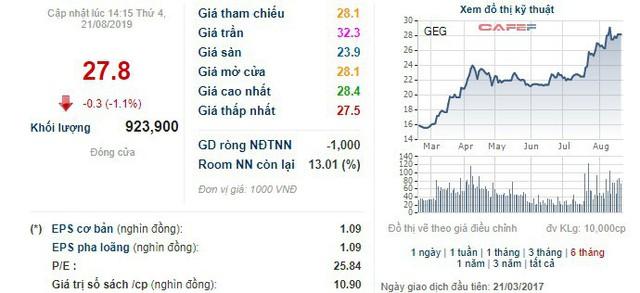 Bà Đặng Huỳnh Ức My vừa bán bớt 5 triệu cổ phiếu GEG, không còn là cổ đông lớn của Điện Gia Lai - Ảnh 1.