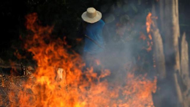 Loạt ảnh gây sốc về rừng Amazon bùng cháy với tốc độ kỷ lục: Khói có thể nhìn thấy từ ngoài không gian, các thành phố bị bao phủ mù mịt như tận thế - Ảnh 3.