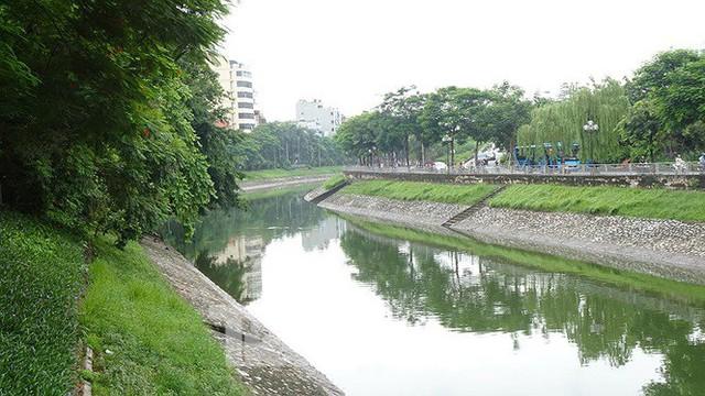 Nước sông Tô Lịch trong veo sau bão, cần thủ thỏa sức buông câu bắt cá - Ảnh 2.