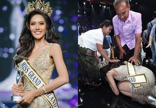 Khi Hoa hậu đội vương miện quỳ lạy cha mẹ: Lòng hiếu thảo của một người con và nét đẹp văn hóa tại đất nước Thái Lan - Ảnh 2.