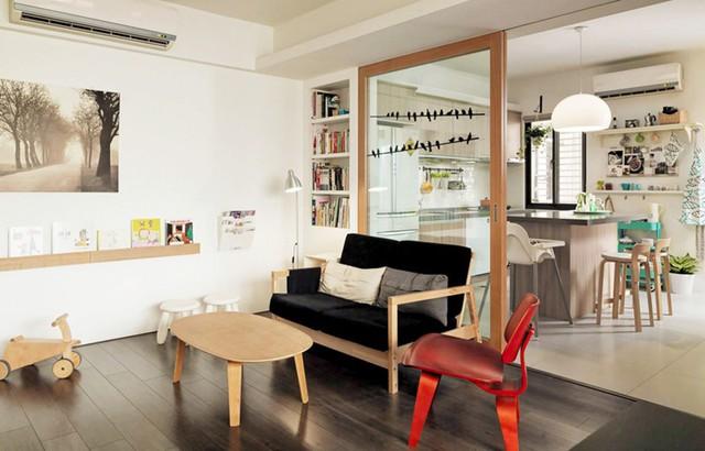 Căn hộ đẹp và lạ mắt của một kiến trúc sư tự thiết kế - Ảnh 3.