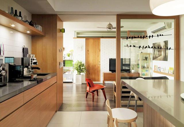 Căn hộ đẹp và lạ mắt của một kiến trúc sư tự thiết kế - Ảnh 4.