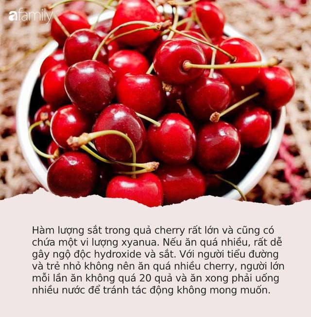 Cherry đang rẻ và có thể ngừa ung thư nhưng chị em mua ăn nhớ tránh 6 điều cấm kỵ này kẻo ngộ độc, thậm chí tử vong - Ảnh 3.