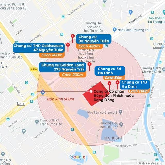 Hà Nội: Điểm danh các chung cư có nguy cơ ô nhiễm quanh nhà máy Rạng Đông - Ảnh 2.