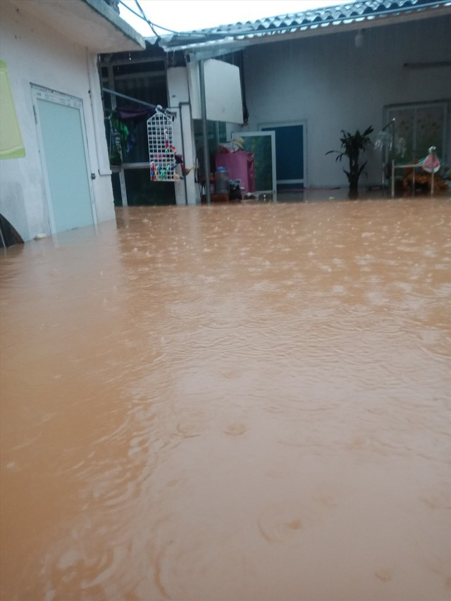 Thái Nguyên mưa lớn, đường biến thành sông, nhà cửa ô tô chìm trong nước - Ảnh 11.