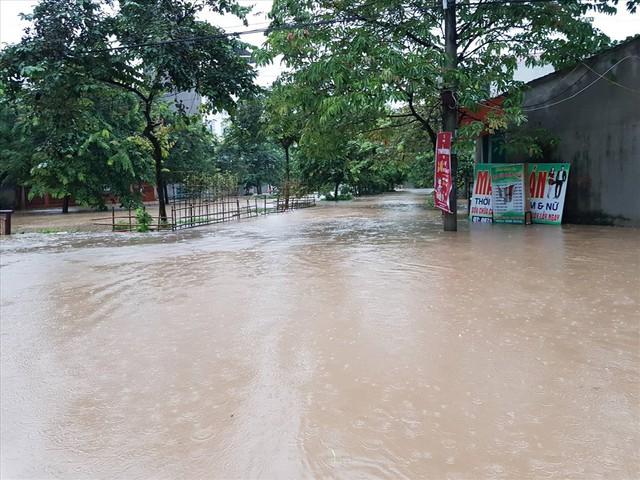 Thái Nguyên mưa lớn, đường biến thành sông, nhà cửa ô tô chìm trong nước - Ảnh 15.