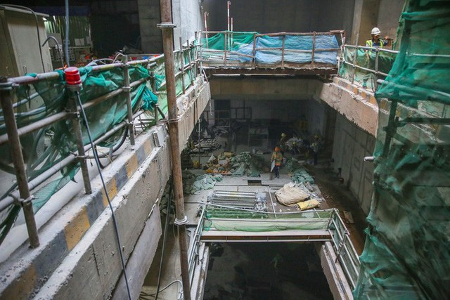 Diện mạo đường hầm Metro số 1 xuyên lòng đất tại trung tâm TP HCM - Ảnh 7.
