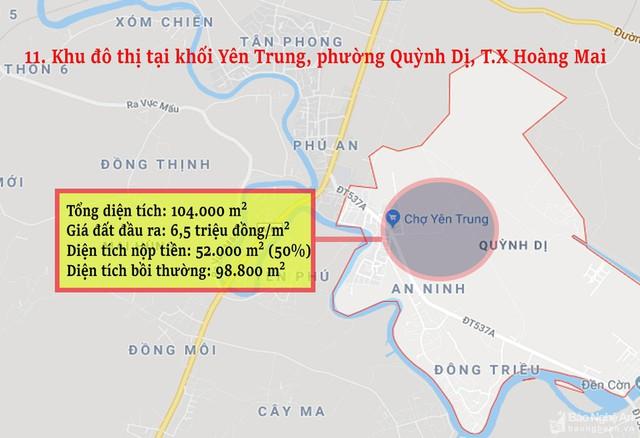 Nghệ An: Chi tiết 11 khu vực lớn dự kiến đấu giá đất ở - Ảnh 11.