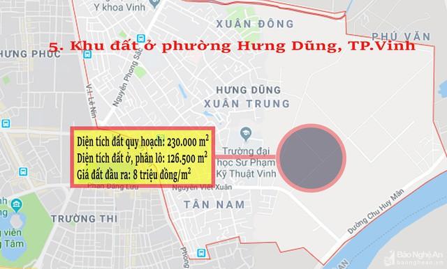 Nghệ An: Chi tiết 11 khu vực lớn dự kiến đấu giá đất ở - Ảnh 5.