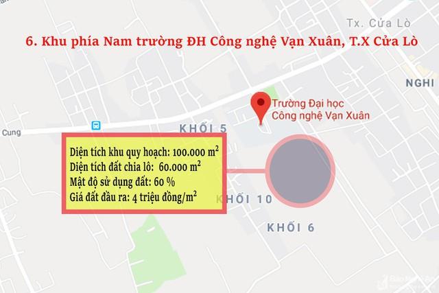 Nghệ An: Chi tiết 11 khu vực lớn dự kiến đấu giá đất ở - Ảnh 6.