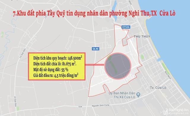Nghệ An: Chi tiết 11 khu vực lớn dự kiến đấu giá đất ở - Ảnh 7.