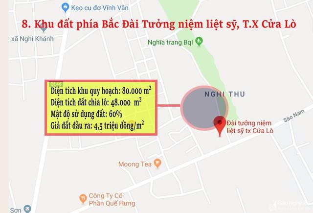 Nghệ An: Chi tiết 11 khu vực lớn dự kiến đấu giá đất ở - Ảnh 8.
