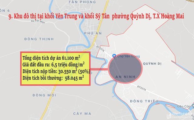 Nghệ An: Chi tiết 11 khu vực lớn dự kiến đấu giá đất ở - Ảnh 9.