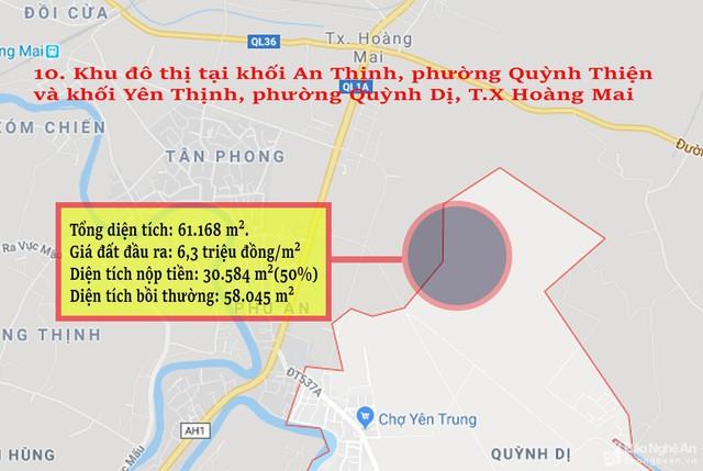 Nghệ An: Chi tiết 11 khu vực lớn dự kiến đấu giá đất ở - Ảnh 10.