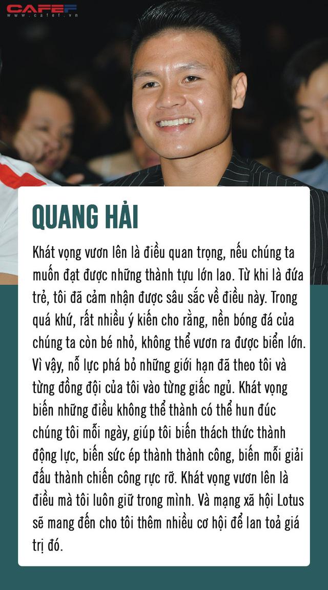 Nhà báo Mai Anh, Ninh Dương Lan Ngọc và Quang Hải truyền cảm hứng tới hàng triệu người Việt: MXH Lotus sẽ mang đến cơ hội lan tỏa niềm tự hào giá trị Việt Nam - Ảnh 3.