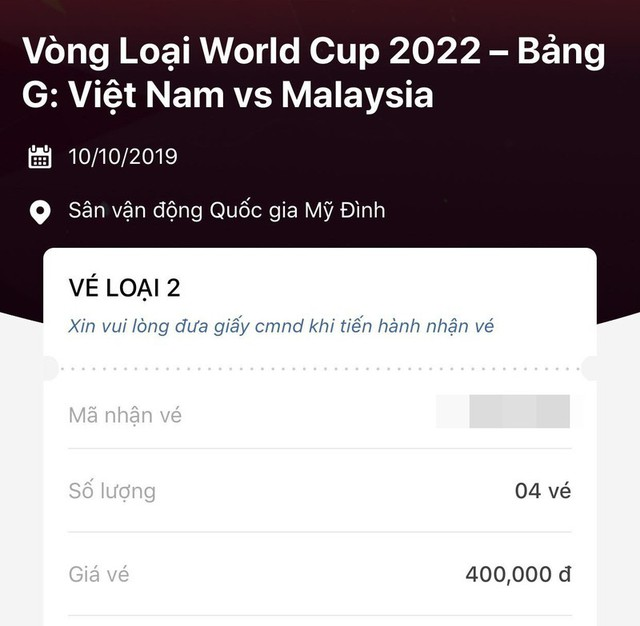 Cháy vé xem trận ĐT Việt Nam - ĐT Malaysia - Ảnh 1.