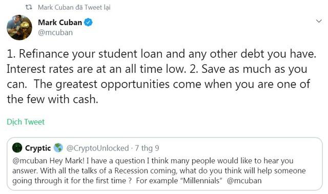 Nếu khủng hoảng xảy ra, bạn vẫn sống tốt nếu biết chi tiêu khôn ngoan như tỷ phú Mark Cuban: Sống tằn tiện như sinh viên, tiết kiệm nhiều nhất có thể! - Ảnh 1.