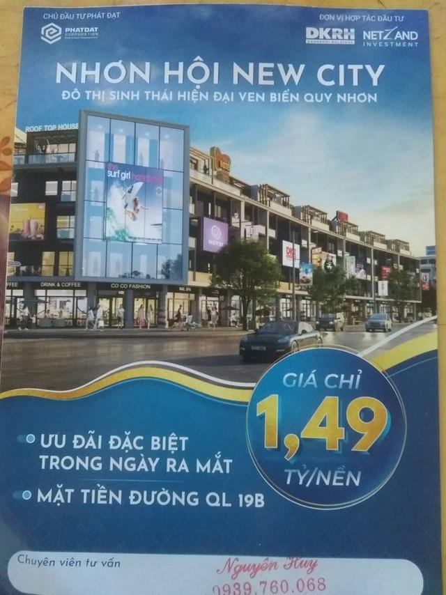 Dự án Nhơn Hội New City tiếp tục bị tuýt còi chưa đủ điều kiện mở bán đất nền - Ảnh 1.