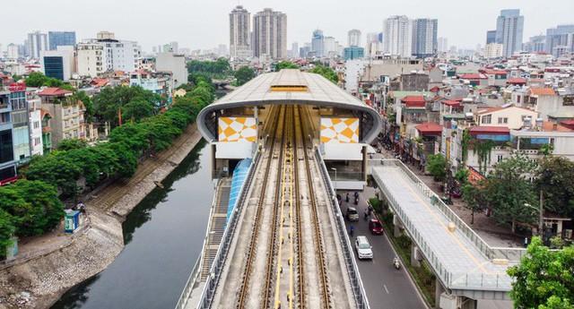 Cận cảnh đường sắt Cát Linh-Hà Đông tiến độ kiểu rùa bò hơn thập kỷ  - Ảnh 1.