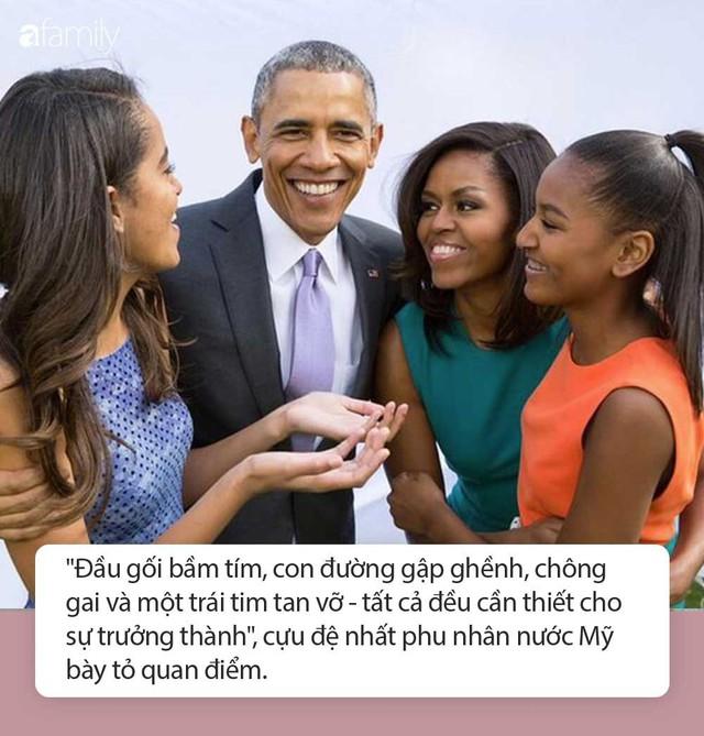 Tư tưởng dạy 2 cô con gái của vợ chồng cựu Tổng thống Obama: Chông gai và 1 trái tim tan vỡ là điều cần thiết để con trưởng thành - Ảnh 2.