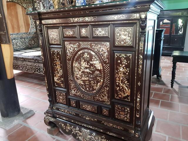 Độc đáo chiếc giường cổ có giá bạc tỷ ở Đồng Tháp - Ảnh 11.