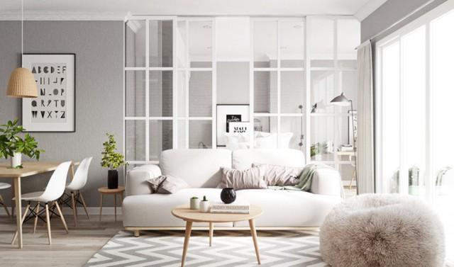 Ngắm căn hộ màu trắng đẹp tinh khôi - Ảnh 1.