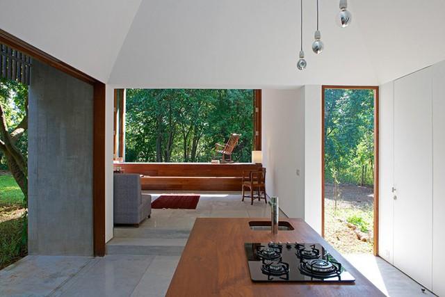 Ngôi nhà không cửa hòa mình với thiên nhiên đẹp khó cưỡng - Ảnh 7.