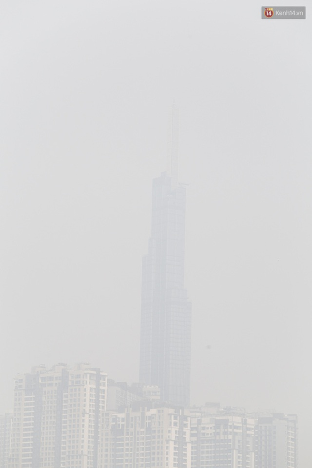 Toà nhà cao nhất Việt Nam mờ ảo trong bụi mù, Sài Gòn tiếp tục bị ô nhiễm nặng những ngày giáp Tết  - Ảnh 5.