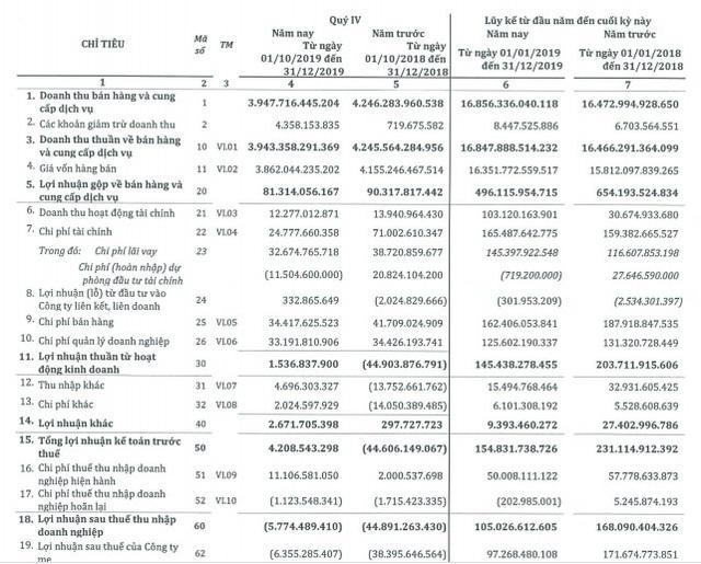 SMC ghi nhận lỗ hơn 5 tỷ đồng quý 4, cả năm vẫn lãi sau thuế 105 tỷ đồng - Ảnh 2.