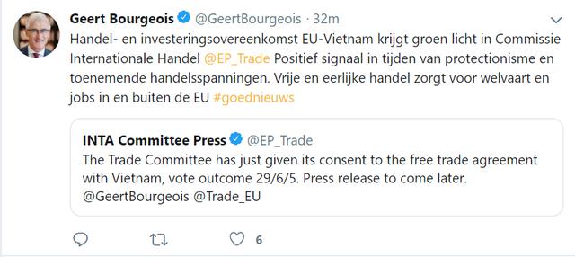 Ủy ban Thương mại châu Âu chính thức thông qua EVFTA và EVIPA - Ảnh 2.