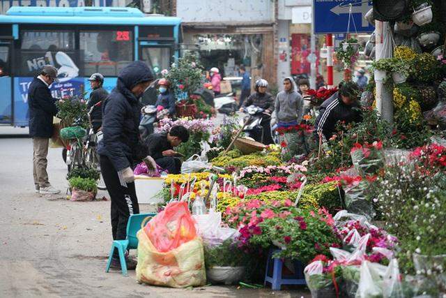 Mặc thời tiết mưa rét, người dân chen chân mua hoa Tết tại chợ hoa lâu đời nhất Hà Nội - Ảnh 2.